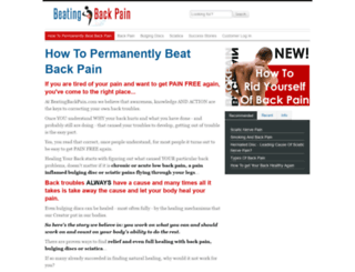 beatingbackpain.com screenshot