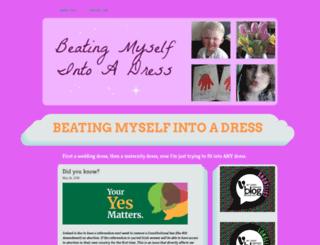 beatingmyselfintoadress.wordpress.com screenshot