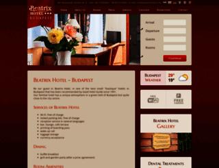 beatrixhotel.hu screenshot