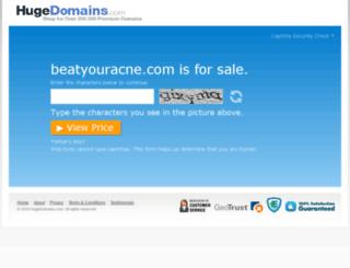 beatyouracne.com screenshot