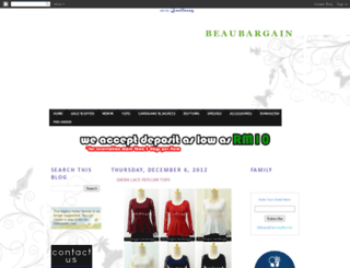 beaubargain.blogspot.com screenshot