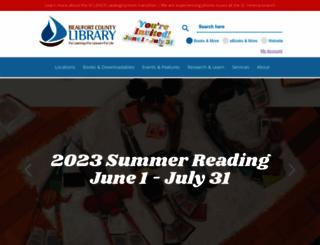 beaufortcountylibrary.org screenshot