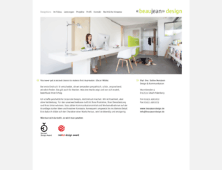 beaujean-design.de screenshot