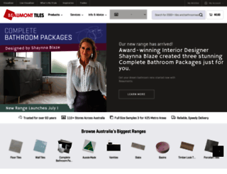 beaumont-tiles.com.au screenshot