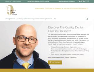 beaumontfamilydentistry.com screenshot
