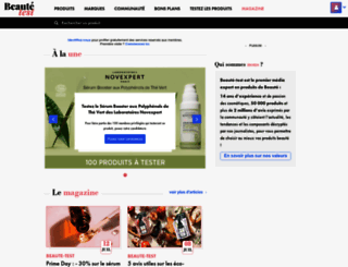 beaute-test.com screenshot