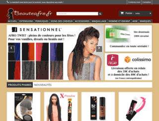 beauteafro.fr screenshot