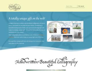 beautifulcalligraphy.com screenshot