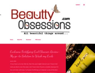 beauttyobsessions.blogspot.in screenshot