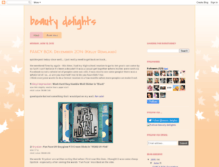 beauty-delights.blogspot.com screenshot
