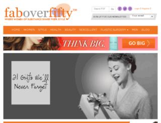 beauty.faboverfifty.com screenshot