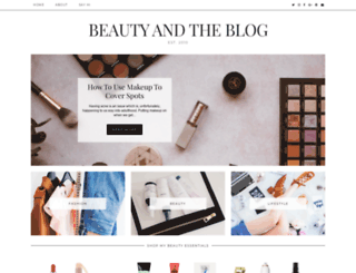 beautyandblog.com screenshot
