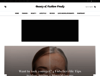 beautyandfashionfreaks.com screenshot