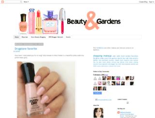 beautyandgardens.blogspot.com screenshot