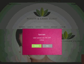 beautyandlaserclinic.com.au screenshot