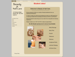beautyandnailcare.net screenshot