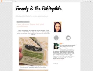 beautyandthebibliophile.blogspot.com screenshot