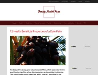 beautyhealthpage.com screenshot