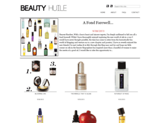 beautyhuile.blogspot.ca screenshot