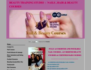 beautytrainingstudio.co.uk screenshot
