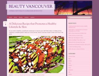 beautyvancouver.wordpress.com screenshot