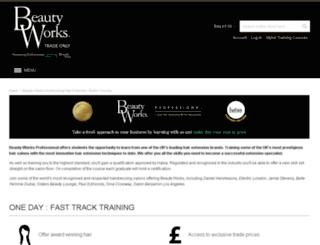 beautyworkspro.co.uk screenshot