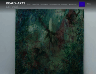 beauxartsparis.com screenshot