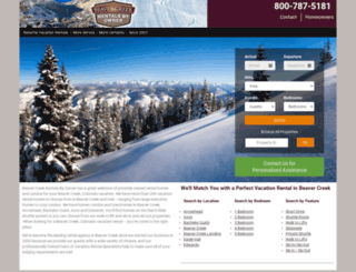 beavercreekrentals.com screenshot