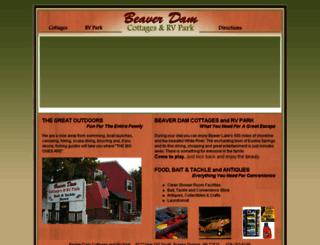 beaverdamcottage.com screenshot