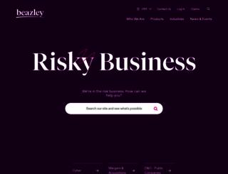 beazley.com screenshot