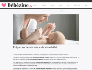 bebezine.fr screenshot