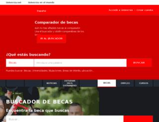 becas.universia.net.mx screenshot