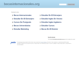 becasinternacionales.org screenshot
