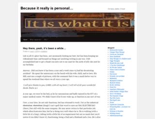 becauseitreallyispersonal.wordpress.com screenshot