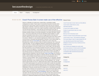 becausethedesign.wordpress.com screenshot