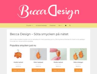 beccadesign.se screenshot