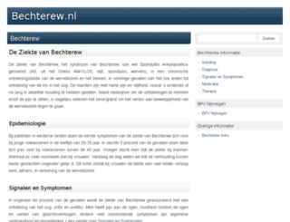 bechterew.nl screenshot