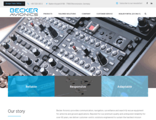 becker-avionics.de screenshot