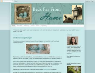 beckfarfromhome.blogspot.com screenshot