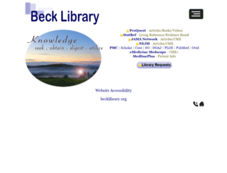 becklibrary.org screenshot