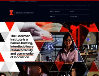 beckman.uiuc.edu screenshot