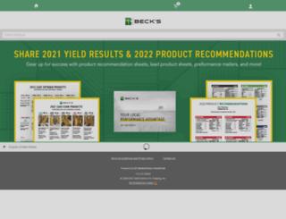 becks.myprintdesk.net screenshot