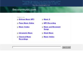 becolormusic.com screenshot