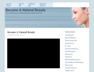 becomeanaturalbeauty.com screenshot