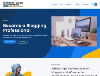 becomebloggingprofessional.info screenshot