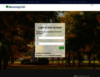 becomingirish.nd.edu screenshot