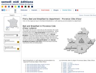 bed-and-breakfast-provence.samedimidi.com screenshot