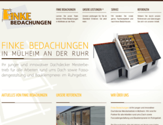 bedachungen-finke.de screenshot
