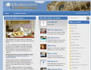bedandbreakfast-lecce.it screenshot