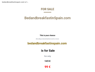 bedandbreakfastinspain.com screenshot